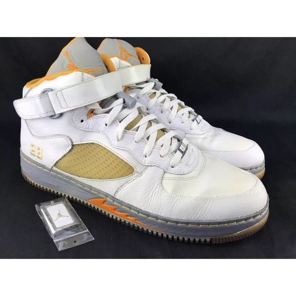 photos officielles 8748d afa6c Mens 15 NIKE 318608-181 Air Jordan AF1 AFJ5 White